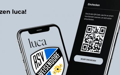 Einchecken mit der Luca App